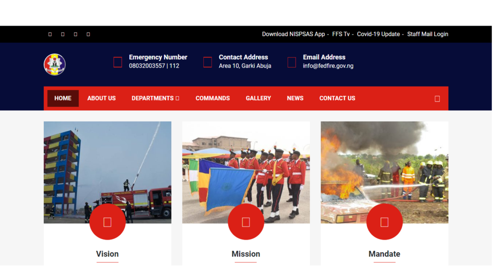 Federal Fire Service Recruitment Portal