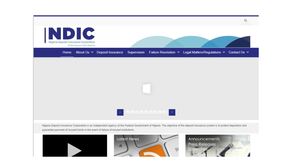 NDIC Recruitment Form Portal Imgae