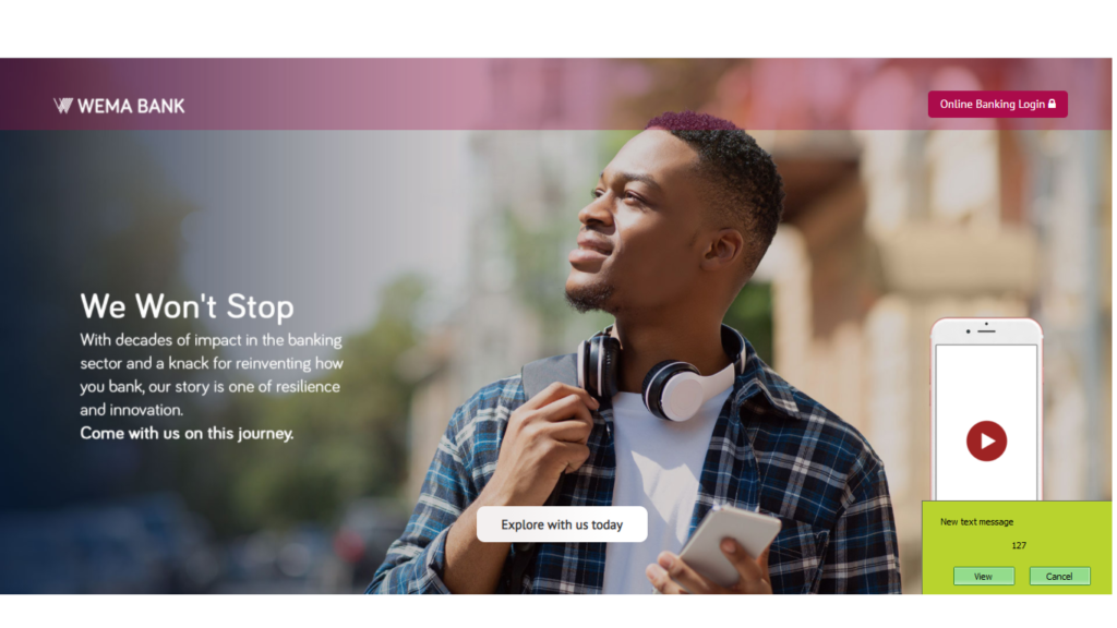 Wema bank recruitment home page
